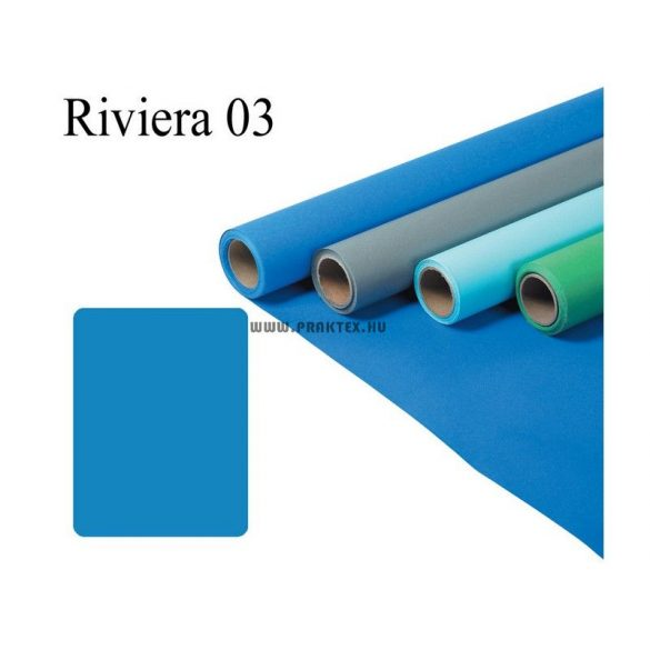 Riviérakék papírháttér (2,72x11m)